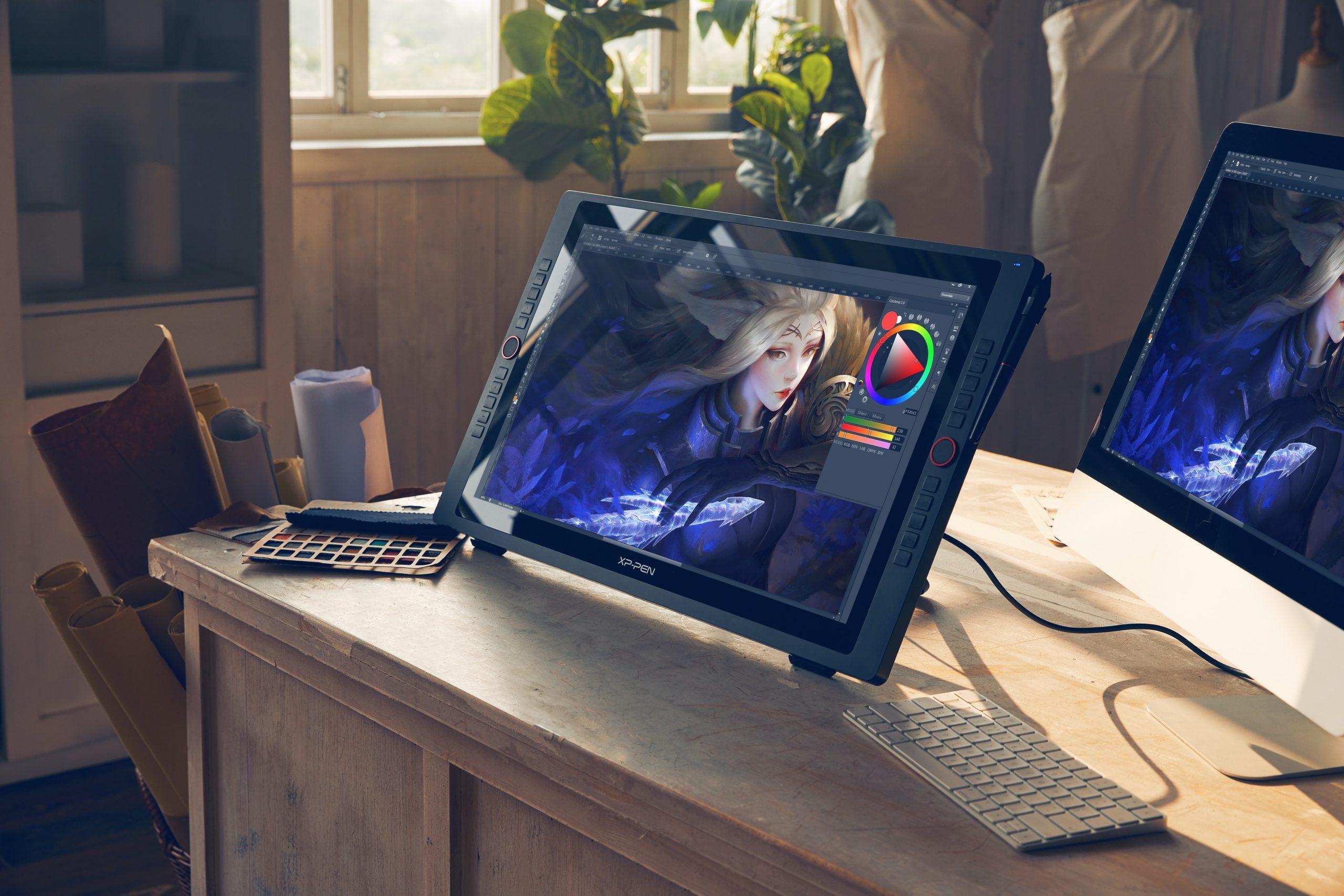 tableta grafica con dibujo de fantasía