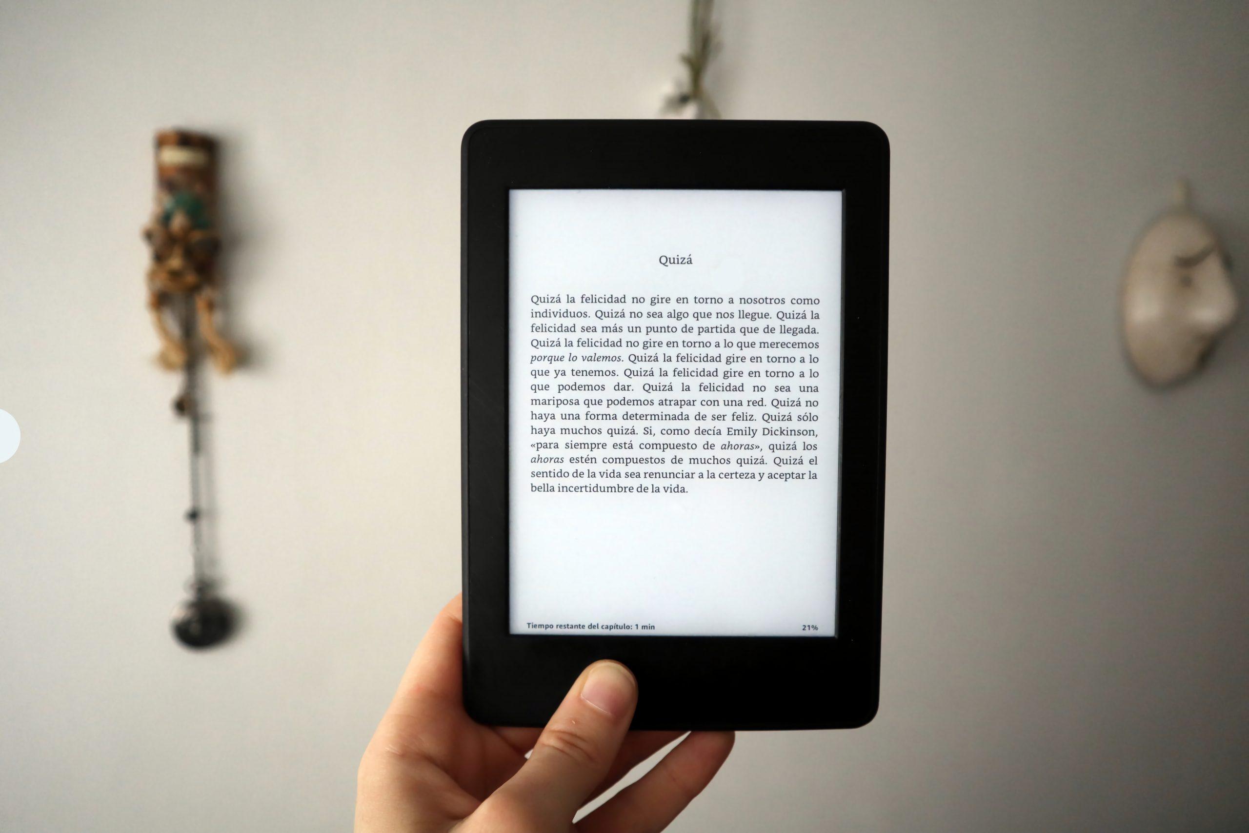 Tablet en funcion de lectura
