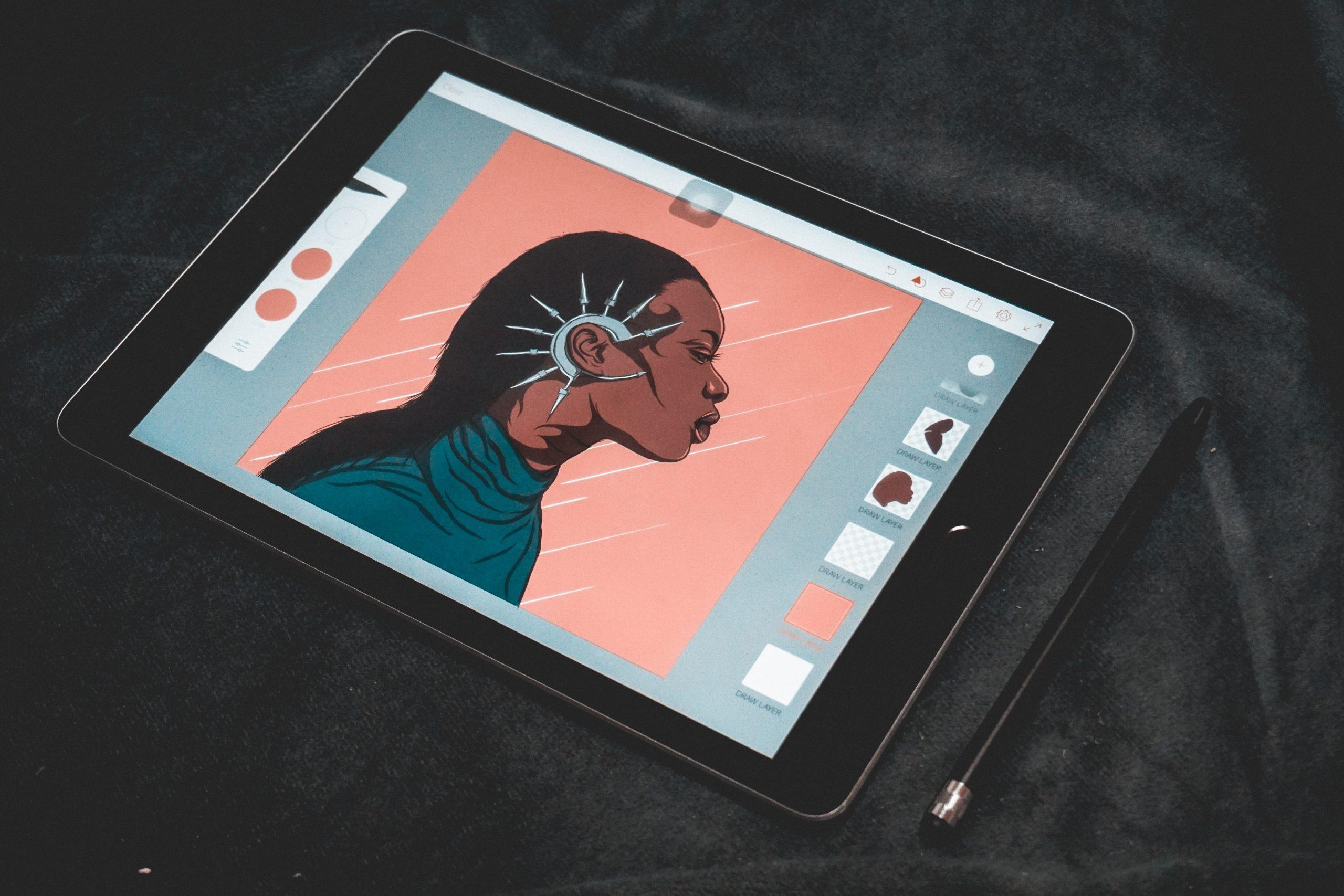 Tablet utilizada para diseño grafico