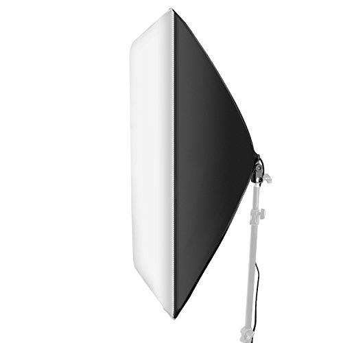 Neewer 24x24 Pulgadas / 60x60 Centímetros Cable Estudio Softbox Difusor con E27 Zócalo para Lámpara Bombilla Fluorescente para Retrato Video Fotografía (Bombilla No Incluida)
