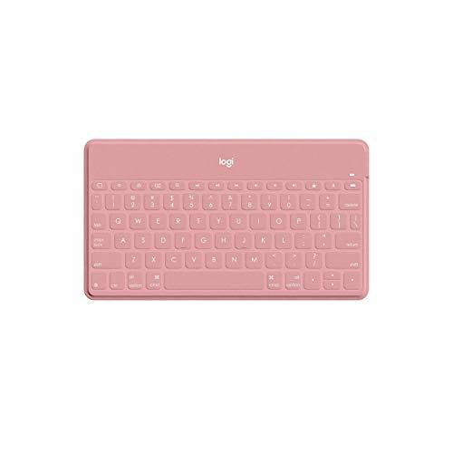 Keys-To-Go Ultra-Portable - Teclado Inalámbrico Bluetooth 3.0 - Para Ios, Incluidos Ipad, Iphone y Apple TV 4 - Blush