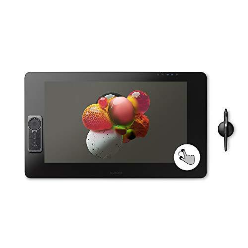 Wacom Cintiq Pro 24 Creative Pen y Touch Display - Monitor de Dibujo gráfico 4K con 8192 de presión de bolígrafo y 99% Adobe RGB (DTH2420K0), Color Negro