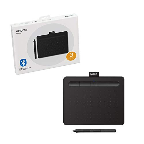 Wacom Intuos Wireless Graphics Drawing Tablet with 2 Bonus Software included, 7.9