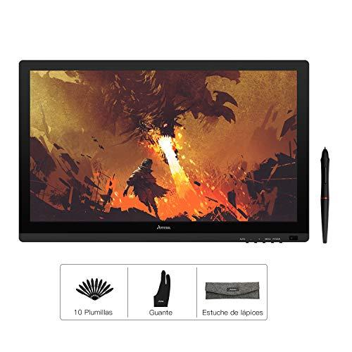 Artisul D22S de 21.5 pulgadas Tableta gráfica con pantalla con rotulador,8192 niveles de sensibilidad del lápiz con inclinación de 60 °, monitor de dibujo gráfico 1920x1080 FHD Soporte ajustable incluido, ampliamente utilizado en la oficina en el hogar