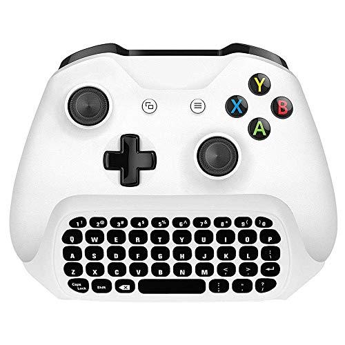 OSTENT 2.4G Chat inalámbrico Gamepad Keyboard con audífono y audio para el controlador de Microsoft Xbox One / S / X blanco