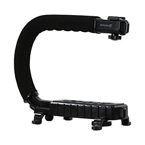 Estabilizador de cámara réflex digital/sin espejo / cámara de acción con mango estabilizador de mano Scorpion Lite con soporte de zapata caliente para Canon Nikon Sony Panasonic Blackmagic PCC DSLR videocámara