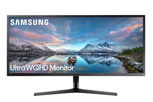 SAMSUNG 34 Pulgadas SJ55W Ultrawide Gaming Monitor (LS34J550WQNXZA) – 75Hz Actualización, WQHD Monitor de computadora, 3440 x 1440p Resolución, 4ms Response, FreeSync, Pantalla Dividida, HDMI, Negro