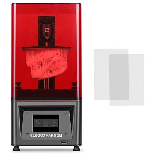 ELEGOO Mars 2 Pro Mono MSLA - Impresora 3D de resina LCD con fotocurado UV, con monitor LCD monocromático de 6.08in con 2K, tamaño de impresión 129 x 80 x 160mm