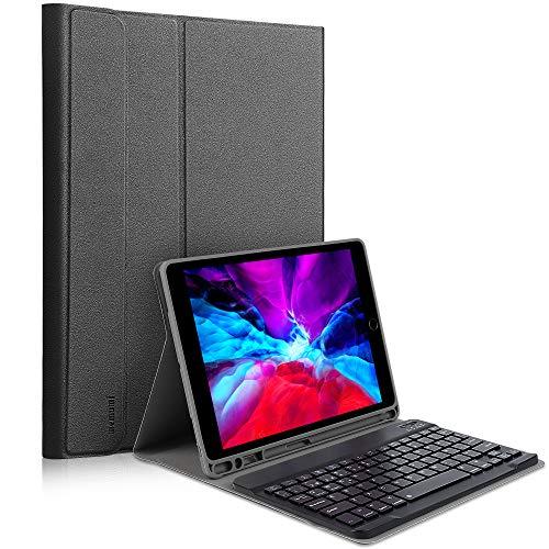 memumi Funda con Teclado de Español para iPad 10.2 7a 8a Genaración Funda Keyboard para iPad Air 3 2019 para iPad Pro 10.5 Carcasa Protectora con Inalámbrico Teclado Bluetooth Magnético Desmontable