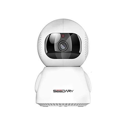 SEEDARY Cámara de Seguridad 3MP de 1296P Full HD WiFi 360° Cámara de Vigilancia Interior Visión Nocturna, Audio Bidireccional, Deteccion de Movimiento, Seguimiento Inteligente, Monitoreo en Tiempo Real por Android/iOS APP, Cámara de Casa para Bebé/Mascota/Oficina/Tienda