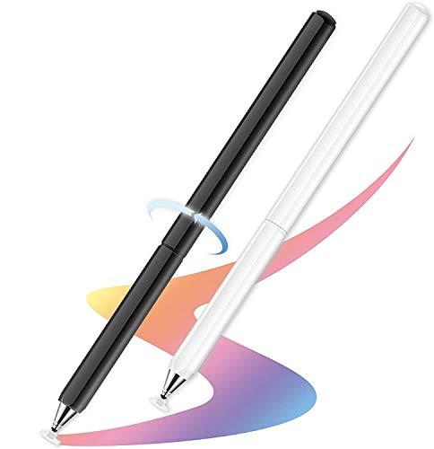 Lápiz óptico para pantallas táctiles, lápiz óptico universal con punta de disco capacitiva compatible con todas las pantallas táctiles capacitivas/iPad/Pro/iPhone/Samsung Galaxy/Tablet/Chormbook/Smartphone
