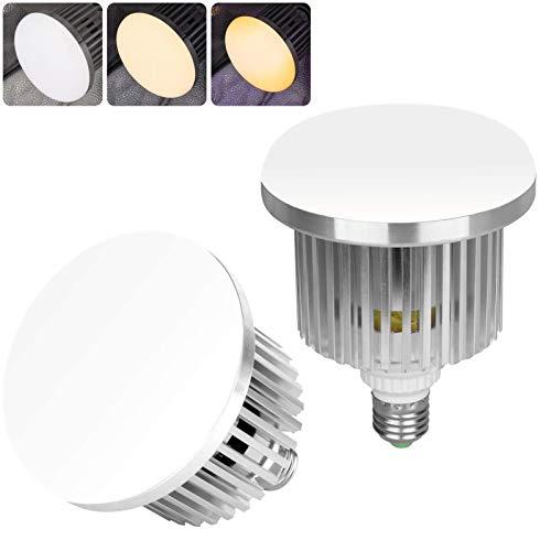 Emart - foco LED con control remoto para fotografía profesional, temperatura de color ajustable de 3000 K a 5500 K, iluminación de estudio fotográfico con 3 modos de luz y 10 niveles de brillo, 2 unidades