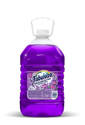Fabuloso Limpiador Líquido Fabuloso Antibacterial Fresca Lavanda 5 Litros, color, 5000 ml, pack of/paquete de