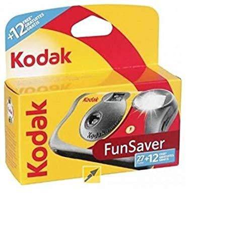 KODAK 3920949 Fun Saver - Cámara con Flash (Amarillo/Rojo)