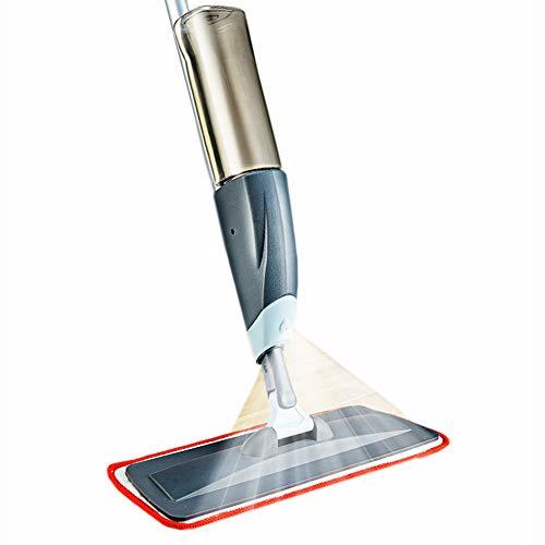 Mopa de microfibra para suelos de madera dura de 360 grados profesional para casa, cocina, piso de cerámica de madera dura (gris)