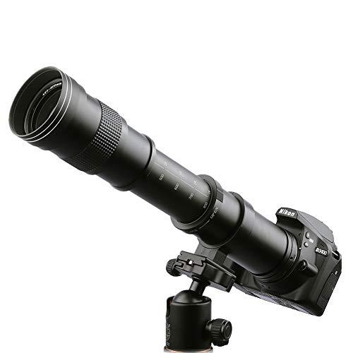 Kelda 420-800 mm F/8,3-16 súper teleobjetivo con Zoom Manual de lente + T-para Nikon DSLR