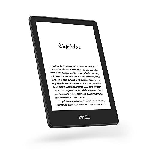 """Presentamos la Kindle Paperwhite Signature Edition (32 GB): tiene una pantalla de 6.8"""", carga inalámbrica y luz frontal autoajustable."""
