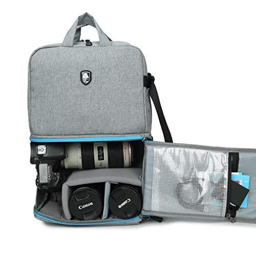 Abonnyc - Mochila para cámaras réflex digitales (Canon, Nikon, Sony y etc), trípode, flashes, lentes y accesorios