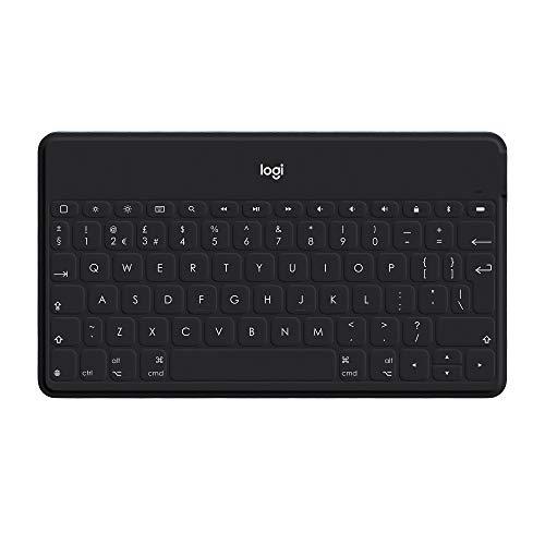 Logitech - Keys-To-Go - Teclado Inalámbrico Portátil para iPad - Negro