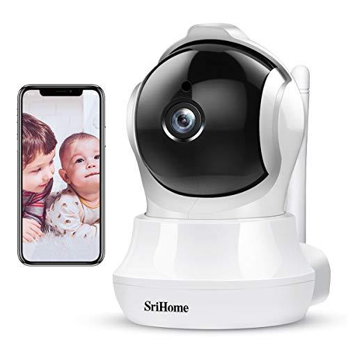 Camaras de Seguridad Wifi Inalambricas IP Cámaras Tipo Domo, ARKARTECH 3MP(2304×1296P) Sistema de Camaras de Vigilancia 360 Grados Monitor para Bebé, 32 pies de Visión Nocturna por Infrarrojos, Audio Bidireccional, Detección de Movimiento,Rastreo Móvil AI, Control Remoto por Android/iOS App