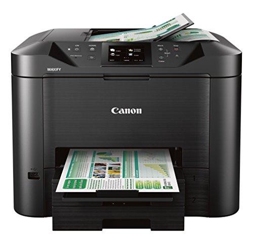 Canon Office and Business MB5420 Impresora inalámbrica Todo en uno, escáner, fotocopiadora y fax, con impresión móvil y dúplex, Negro, Escritorio