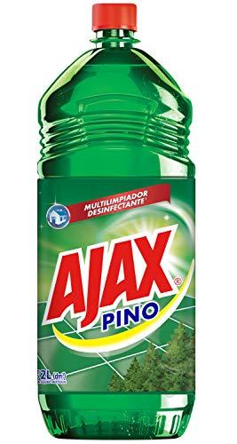 Ajax Limpiador Líquido Multiusos Pino Multilimpiador desinfectante*, Pisos brillantes y aroma intenso, 2 L