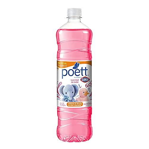 Poett Poett Limpiador Desinfectante De Pisos Aroma Bebe 900 Ml, color, 900 ml, pack of/paquete de