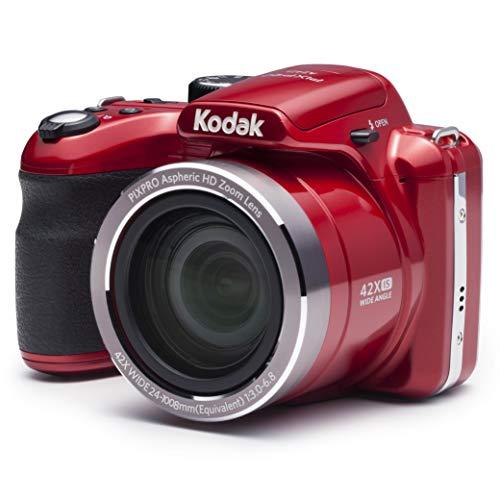 Kodak AZ421-RD PIXPRO Astro AZ421 16 megapíxeles cámara Digital con Zoom óptico de 42 x y 3 pulgadas pantalla LCD (rojo)Kodak AZ421-RD PIXPRO Astro AZ421 Cámara digital de 16 MP con acercamiento óptico de 42X y pantalla LCD de 3