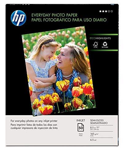 HP Papel fotográfico diario   brillante   8,5 x 11   50 hojas