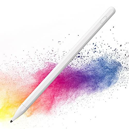TYC Stylus Pen, Lápiz Óptico para Pantalla Táctil, Lápiz Capacitivo,con 2 Puntas de Fibra para Smartphones y Tabletas, Pantalla Táctil Apple Ipads, iPad Mini (Blanco)