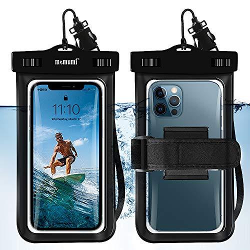 memumi 1 Pieza Funda IPX8 Impermeable para Celular, 2 en 1 Bolsa Estanca Funda Impermeable para Teléfono Movil para iPhone 12 Pro MAX para Samsung redmi Note 10 Pro Menos de 7 Pulgadas