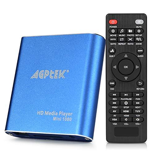 Reproductor multimedia HDMI, mini 1080p Full HD Ultra HDMI reproductor MP4 para MKV / RM/ MP4 / AVI, etc. - HDD USB Flash Drive/HDD y tarjeta SD