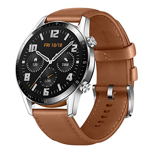 Huawei Watch Gt 2 - Reloj Inteligente, 46Mm, 3D Glass Screen, Bluetooth, Café