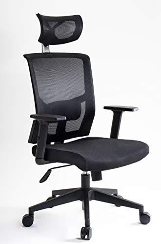 I SEATING Silla oficina ejecutiva con cabecera y soporte lumbar ajustable silla gamer sillas para escritorio silla ergonomica Caselli C