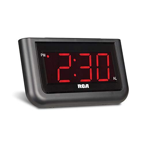 RCA Reloj despertador digital con pantalla grande de 3.55 cm (1.4