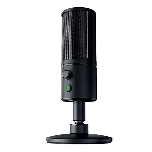 Razer Seiren X: patrón de captura supercardioide - Micrófono de condensador - Montaje de choque incorporado - Micrófono para transmisión de grado profesional
