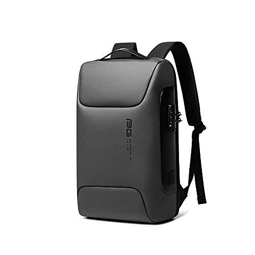 BanGe Mochila Impermeable antirrobo 39L para portátil, Viajes, Escuela Laptop con Puerto de USB para Carga, Tira reflejante de Seguridad, Malla ergonómica Transpirable y ventilada