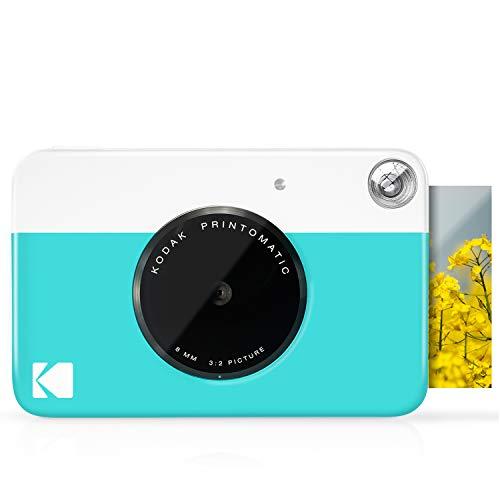 Kodak Cámara Digital de impresión instantánea (Azul) Impresión a Todo Color en Papel Fotográfico Zink 2 x 3 Pulgadas Papel Adhesivo– Imprime Recuerdos al Instante