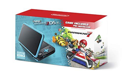 Nuevo Nintendo 2DS XL - Negro + Turquesa con Mario Kart 7 Pre-instalado - Nintendo 2DS