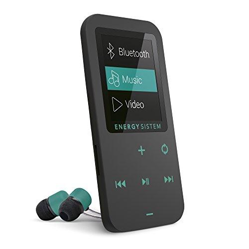 Energy System EY-426461 Reproductor Mp4 Touch Conexion Bluetooth, Color Negro con Verde Menta Memoria Interna de 8Gb Radio FM,