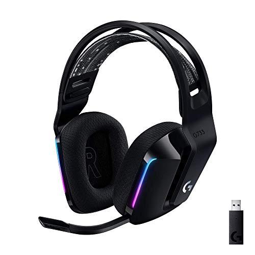 Logitech 981-000863 G733 Lightspeed - Audífonos RGB inalámbricos con micrófono para juegos, Negro