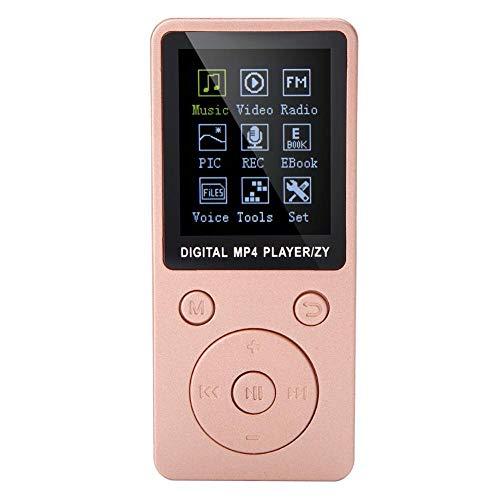 Reproductor de MP3 / MP4 Portátil MP4 Reproductor de Música con Pantalla Equipado con Auriculares Admite Tarjetas de Memoria hasta 32G Soporta Música Radio Grabación Video Libro Electrónico