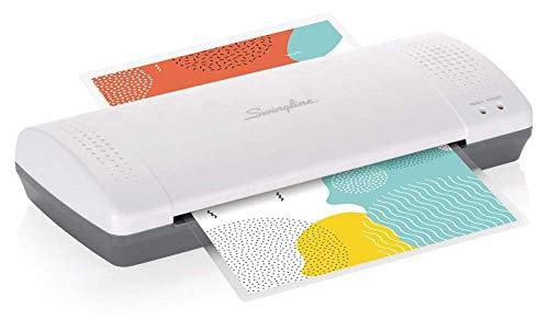 Swingline 1701863ECR Laminador térmico, Inspire Plus, 23 cm de ancho máximo, calentamiento rápido, incluye bolsas de laminado, blanco/azul, 9