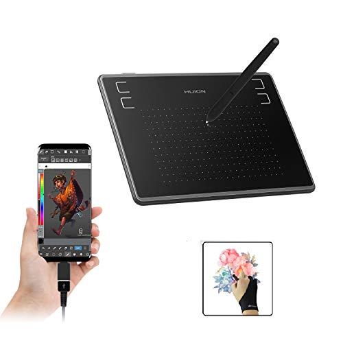 Huion Inspiroy H430P OSU! Graphics Drawing Tablets con 8 Puntas Pluma, 4 Llaves Express, Battery-Free Pen, Uso Ideal para Aprendizaje a Distancia y Conferencia los miércoles