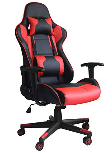 Gran Shopping Silla Gamer Gaming Consola Pc Ergonomica Reclinable Rojo