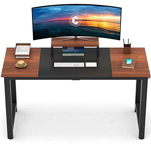 CubiCubi - Escritorio de madera enchapada con estilo moderno y simple para oficina, computador, mesa de estudio