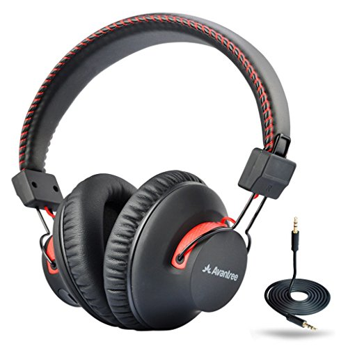 Avantree 40 horas aptX Hi-Fi Auriculares Diadema Bluetooth Inalambricos para TV con micrófono, Over Ear Extra Cómodos y Ligeros, NFC, Inalámbrico / Con Cable modo DUAL - Audition [2]