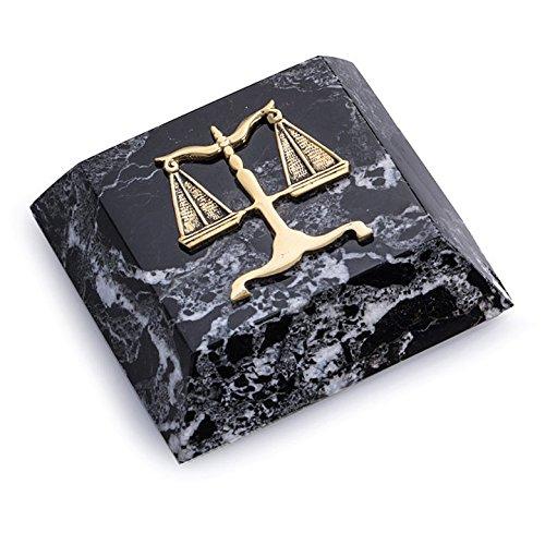 KensingtonRow Home Collection pisapapapeles – balanzas de justicia mármol pisapapeles – Profesión legal Abogado Regalos